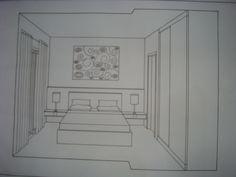 desenho de um quarto em perspectiva - Pesquisa Google