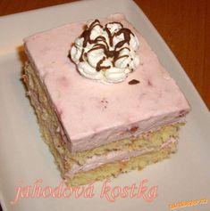 Jahodová kostka Recipe Database, Nutella, Sweet Tooth, Cooking, Cake, Desserts, Food, Kitchen, Tailgate Desserts