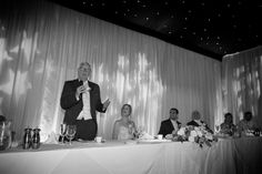 The Father of the Bride makes his speech on a wedding day at The Hangar, Milsoms Kesgrave Hall near Ipswich Suffolk. www.headoverheelsphotography.co.uk