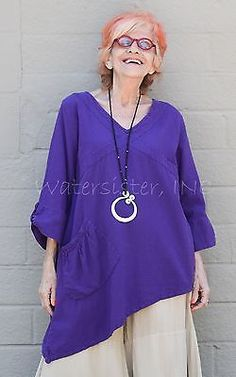 WATERSISTER Cotton Gauze RAYAH TUNIC Long V-Hem Top 1(M/L) 2(XL/1X) 2016 COLORS