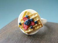 bague en fimo : PetitPlat Handmade Miniature Food: Food Jewelry
