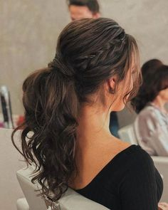21 Stylish And Beautiful Indian Hairstyle For Saree - Hairstyles Indian Hairstyles For Saree, Saree Hairstyles, Headband Hairstyles, Ponytail Hairstyles With Braids, Hair Ponytail Styles, Hairstyle Pics, Curly Hair Ponytail, 2 Braids, Stylish Ponytail