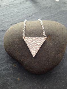 Fine silver triangle necklace - Famous Last Words Mens Silver Necklace, Silver Bracelets, Silver Earrings, Emerald Jewelry, Silver Jewelry, Diamond Jewelry, Triangle Necklace, Necklace Chain, Onyx Necklace