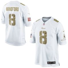 Nike Sam Bradford St. Louis Rams Salute to Service Game Jersey – White