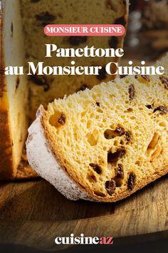 Le saviez vous ? On peut faire du panettone au Monsieur Cuisine. C'est une brioche traditionnelle Italienne fourrée de raisins secs, de fruits confits et de zestes d'agrumes.  #recette#cuisine#panettonne #brioche#patisserie #italie #robotculinaire #MonsieurCuisine You Are My Sunshine, Banana Bread, Tasty, Robot, Desserts, Brioche, Candied Fruit, Raisin, Cooking Recipes