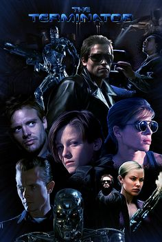 Terminator Saga Poster, Saint Genesis on ArtStation at http://www.artstation.com/artwork/terminator-saga-poster