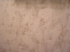 Spackle and gold sponging.