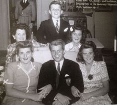 Clockwise: Teddy, Jean, Kathleen, Bobby, Pat and Rose Kennedy