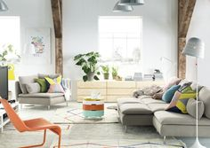 Coziness with character. bring some brightness into your living room with colorful accent furniture and accessories.