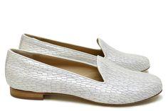 Chaussures Femme Slippers Printemps Eté 2015 Maurice Manufacture BERT Cosmo blanc argent
