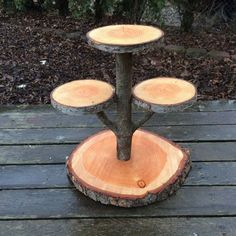 Large Log Doug Fir Wood Rustic Cake Cupcake Stand Wedding party shower wooden 4 tiered, lumberjack party, boho,wild things are, live edge This cupcake/cake stand is just perfect for any occasio Cupcake Stand Wedding, Cake And Cupcake Stand, Wooden Cupcake Stands, Cupcake Cupcake, Wooden Tiered Stand, Rustic Cake, Rustic Decor, Rustic Wood, Rustic Theme