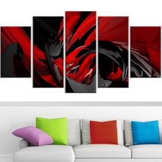 Design Art 'Red and Grey Mixer' Contemporary Canvas Art - Overstock™ Shopping - Top Rated DESIGN ART Canvas
