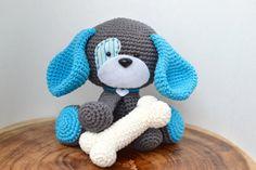 Cute Dog Crochet Pattern. Domino The Dog Amigurumi by YarnSociety
