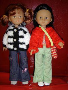 Vêtements pour poupées par Sophie (3)Ж 1) http://ateliertricotcrochet.over-blog.com/article-32309121.html 2)  http://p4.storage.canalblog.com/48/28/469288/50467792.pdf