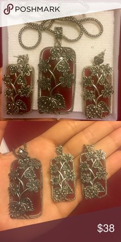 Kashmiri jewelry Beautiful, hand designed jewelry from Kashmir. Pendant with earnings. Jewelry Necklaces