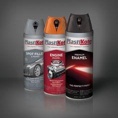 "motorntv.com - Award-Winning ""Twist and Spray"" Aerosol Design Now Available on PlastiKote Premi Aerosol Paint, Packaging Design, Packaging Ideas, Engineering, Drinks, Bottle, Motorcycles, Label, Cars"