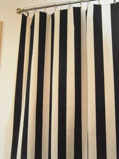 Black and white curtains for Paris theme office?