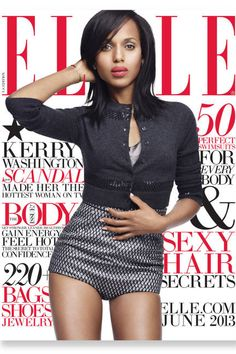 Behind-the-scenes with Kerry Washington from the June issue of ELLE