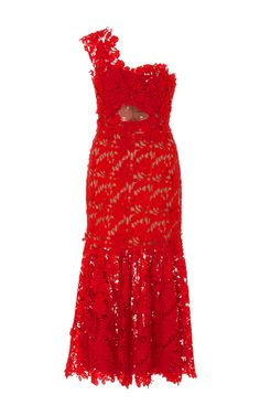 Macarena Lace One Shoulder Dress by Johanna Ortiz | Moda Operandi