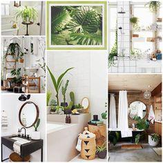 Decoración de baños con plantas. Moldura contemporánea color verde manzana by Molduras Hergon (ref. 547-760)
