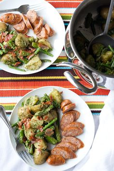 Spring Vegetable Salad with Dill Pesto and Prosciutto | Perry's Plate