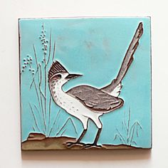 McKusick Gila Pottery Roadrunner Tile. Click on the image for more information.