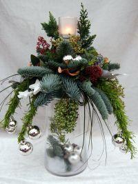 Afbeeldingsresultaat voor kerststuk in glazen vaas