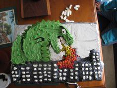 My Godzilla Birthday Cake! Godzilla Party, Godzilla Birthday Party, 4th Birthday, Birthday Cake, Birthday Parties, Godzilla Godzilla, Birthday Ideas, Celebrate Good Times, Allrecipes