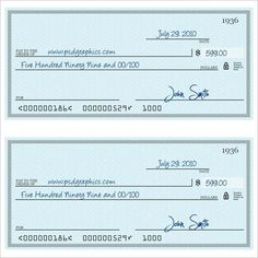 Blank Check Template   Free Word Psd Pdf  Vector
