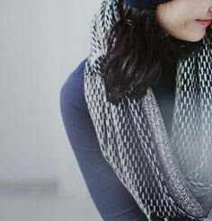 An infinity scarf made with organic wool is warm and cozy.