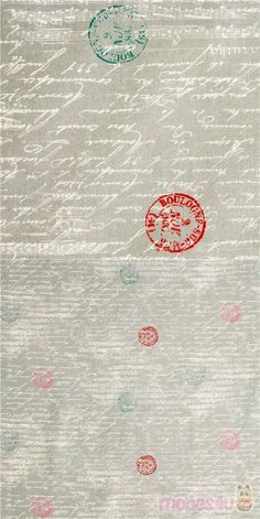 grey fabric with white cursive text, music notes with red, blue, pink, teal postmark stamps, Material: 100% cotton, Fabric Type: smooth cotton fabric #Cotton #Retro #Letters #Numbers #Words #USAFabrics Michael Miller, Kawaii, Grey Fabric, Cotton Fabric, Retro Fabric, Cursive, Music Notes, Teal, Blue Nails
