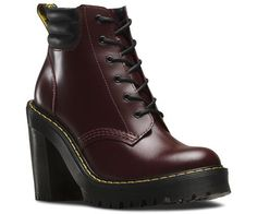 The higher the better. Dr. Martens PERSEPHONE Heels in shiraz leather. New for AW15.