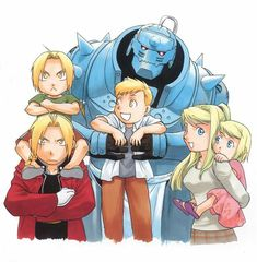 Elric brothers and Winry Childhood