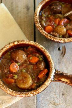Slow Cooker Beef Stew will warm your bones on a cold winter's day.