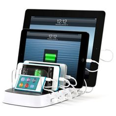 Griffin PowerDock 5 - Multi-Charger Dock [Charges 5 USB Devices] [for iPad, for iPhone, and for iPod] Cool Technology, Technology Gadgets, Technology Apple, Futuristic Technology, Energy Technology, Educational Technology, Gadgets And Gizmos, Tech Gadgets, Newest Gadgets