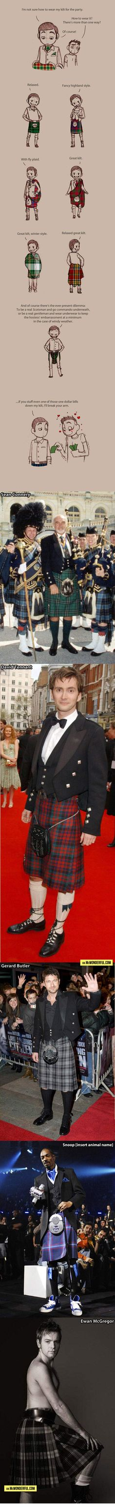 How to wear a kilt…