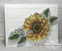 Happy Birthday Flower, Happy Birthday Cards, Sunflower Cakes, Happy June, Stamping Up Cards, Card Maker, Flower Cards, Creative Cards, Homemade Cards