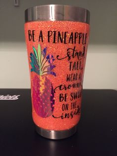 Glitter pineapple tumbler Glitter pineapple tumblerYou can find Tumbler quotes and more on our website. Pineapple Tumbler, Pineapple Cup, Diy Tumblers, Custom Tumblers, Glitter Tumblers, Personalized Tumblers, Short Friendship Quotes, Tumblr Cup, Tumbler Quotes