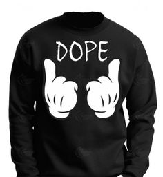 Dope crewneck Disney mickey hands  all sizes by CUSTOMCITY on Etsy, $23.99