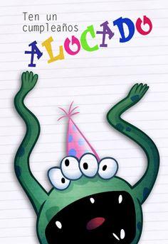 Tarjeta gratis de cumpleaños para imprimir - Cumpleaños alocado | Greetings Island