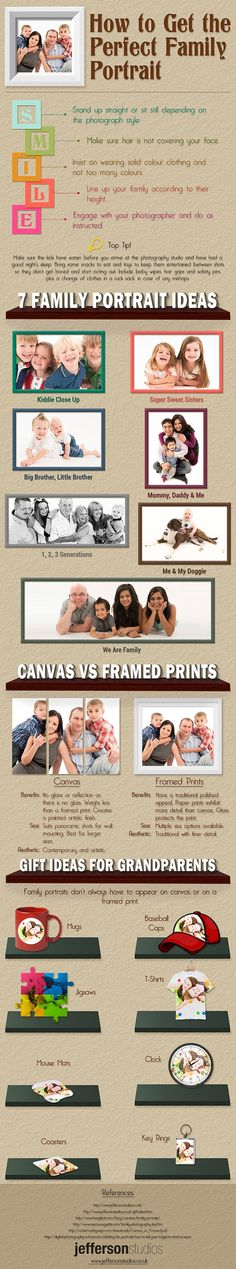 Infographic: Tips and Ideas for Shooting the Perfect Family Portrait #family #photography