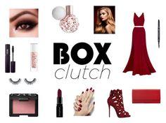 """box clutch 2"" by ekarnes ❤ liked on Polyvore featuring Fame & Partners, Giuseppe Zanotti, Smashbox, INIKA, NARS Cosmetics, Guerlain, women's clothing, women's fashion, women and female"