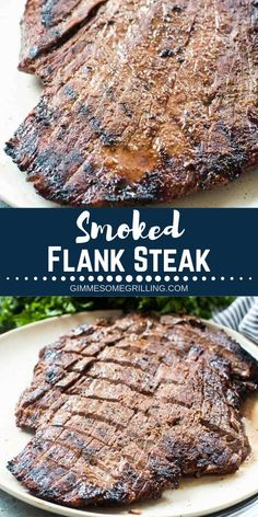 This Marinated Smoked Flank steak is marinated in a delicious, simple marinade a. - This Marinated Smoked Flank steak is marinated in a delicious, simple marinade and it's so juicy - Flank Steak Tacos, Flank Steak Recipes, Pellet Grill Recipes, Electric Smoker Recipes, Marinated Flank Steak, Traeger Recipes, Smoked Meat Recipes, Grilling Recipes, Grilling Ideas