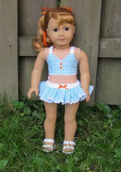 American Girl doll Maryellen inspired aqua by MySewYouCreations $15.00