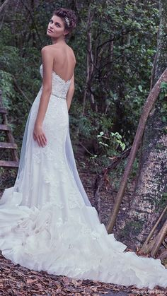 maggie sottero bridal fall 2016 strapless sweetheart lace sheath wedding dress (rosaleigh) bv overskirt