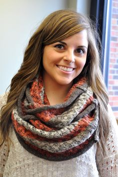 Glowing Embers Scarf  Fall Chunky Scarves