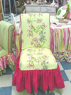 Mothers's Tea Chair - Parsons Chair Slipcover