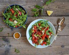 MELONSALAT med edamamebønner & quinoa