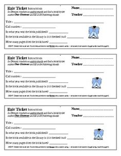 Destiny Library Catalog Practice & 'Exit Ticket' - 3-5 gr