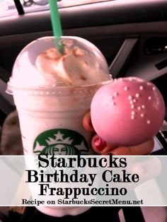 Celebrate with a Starbucks Secret Menu Birthdday Cake Frappuccino! Recipe here: http://starbuckssecretmenu.net/starbucks-secret-menu-cake-batter-frappuccino/